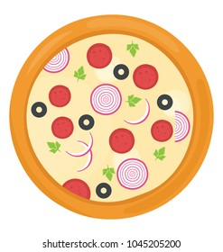 Italian junk food pepperoni pizza