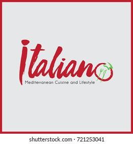 Italian Mediterranean Cuisine and Lifestyle Logo Poster
