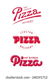 italian pizza labels, logos for pizzeria