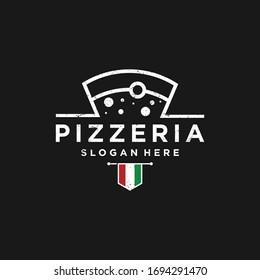 Italian pizza restaurant design logo. symbols for food and drink and restaurants.