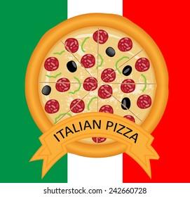 Italian pizza vector design
