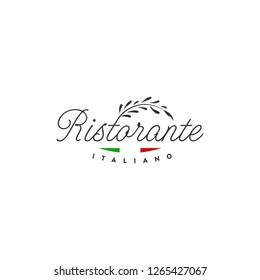 italian restaurant logo, vintage badge