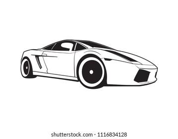 Lamborghini Auto Car Stock Vectors Images Vector Art Shutterstock