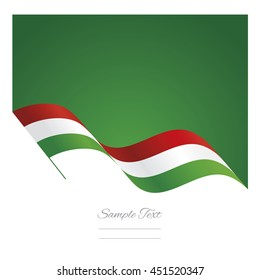 Italy abstract wave flag ribbon vector background