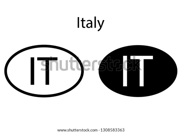 Italy Country Code Icon Iso Code Stock Vector Royalty Free 1308583363