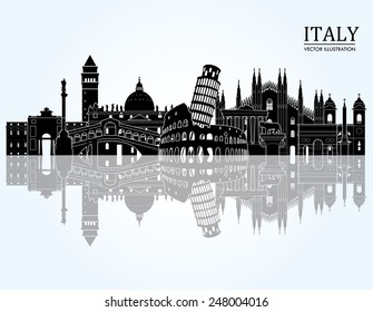 Italy detailed skyline. Vector illustration