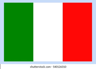 Italy Flag. Italian flag. Italy flag, official colors and proportion correctly. National Italy flag. Flat vector illustration. EPS10.