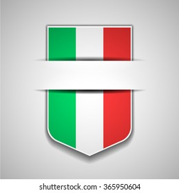 Italy flag shield sign