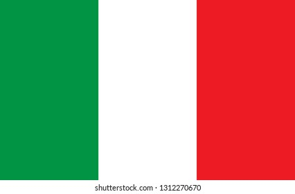 Italy flag. Simple vector Italy flag