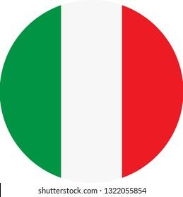 Italy flag. Simple vector round Italy   flag