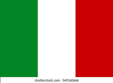 Italy flag vector icon.