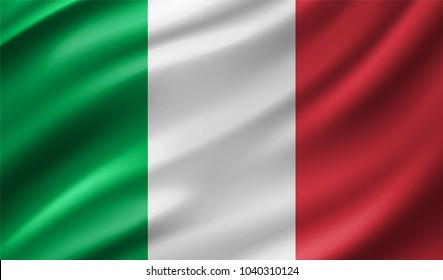 Italy Flag in Vector Illustration