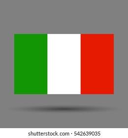 Italy flag. Vector illustration