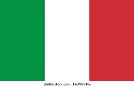 Italy Flag, Vector image and icon