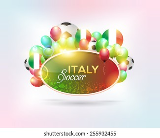 Italy Football National Theme Banner, Card, Background