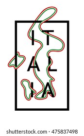 Italy. Italia graphic typography design for poster, t-shirt, apparel