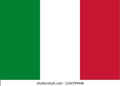 Italy Italian Country Flag Illustration Design