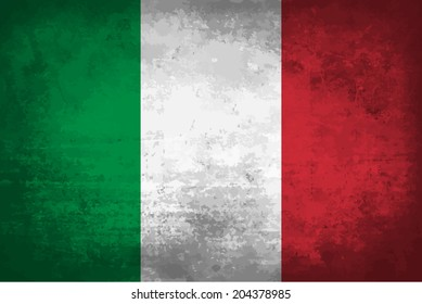 Italy, italian flag on concrete textured background