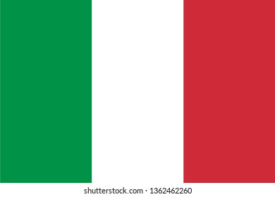 Italy or Italian Republic IT official national flag sign icon flat vector