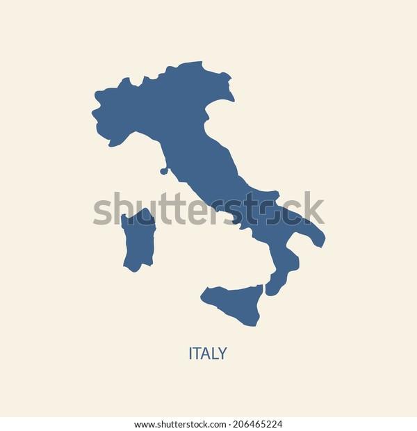Italia Kartta Arkistovektori Rojaltivapaa 206465224