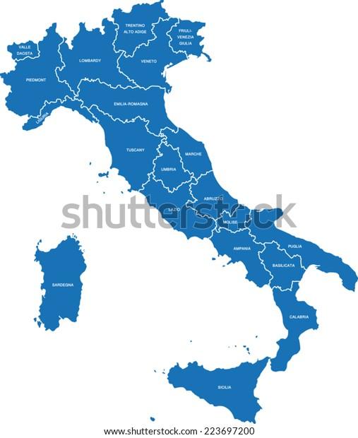 Image Vectorielle De Stock De Carte D Italie 223697200