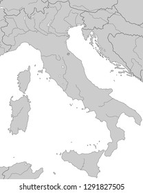 Italy - Map of Italy (high detailed)