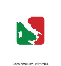 italy map - italian logo template - italia icon