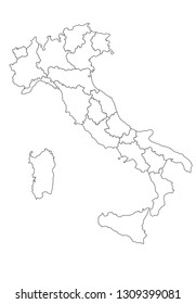 italy map vector illustration, country maps, maps