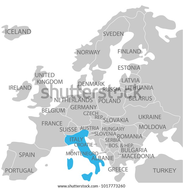 Italy Marked By Blue Grey Political Stock Vector (Royalty ... on sri lanka world map, germany world map, indonesia world map, guam world map, panama world map, lesotho world map, western samoa world map, austria world map, scotland world map, haiti world map, norway world map, ireland world map, south korea world map, india world map, ceylon world map, cape verde world map, british isles world map, japan world map, antartica world map, kazakhstan world map,