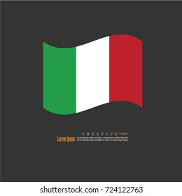 Italy  national flag background texture.vector illustration.