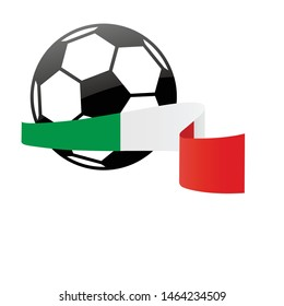 Italy national flag football icon . Italy football championship banner. Simple vector Italy flag