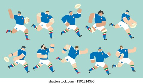 Italy national team rugby players set for Six Nations tournament