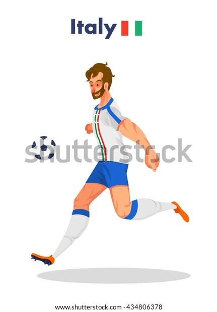 Italy nationality footballer, Vector illustration.