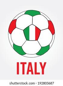 Italy Soccer Ball Icon - Vector