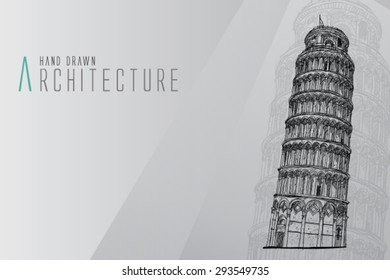 Italy vector logo design template. leaning tower of Pisa or Tower icon.