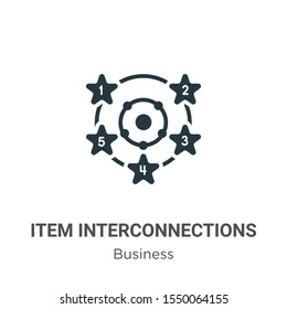 Item interconnections vector icon on white background. Flat vector item interconnections icon symbol sign from modern business collection for mobile concept and web apps design.