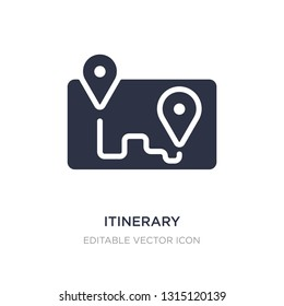 itinerary icon on white background. Simple element illustration from Travel concept. itinerary icon symbol design.