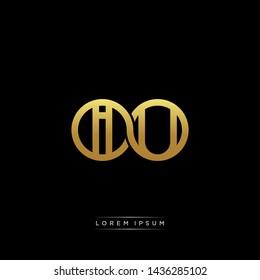IU initial letter linked circle capital monogram logo modern template