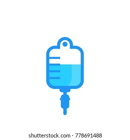 iv bag, drip icon isolated on white
