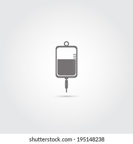 IV bag icon - Vector