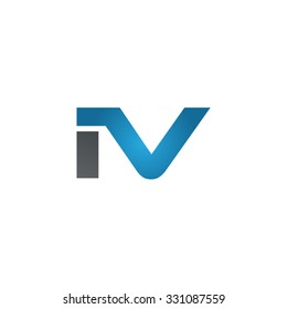 IV company linked letter logo blue