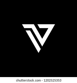 iv logo initial triangle