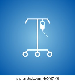 IV Stand Icon on blue color.
