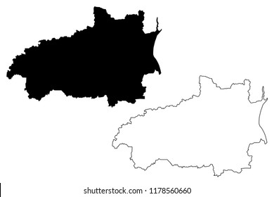 Ivanovo Oblast (Russia, Subjects of the Russian Federation, Oblasts of Russia) map vector illustration, scribble sketch Ivanovo Oblast map