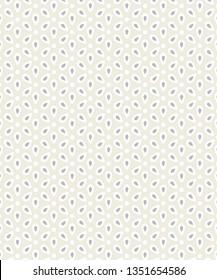 Ivory Basic Cotton Eyelet Fabric Swatch Seamless Pattern Vector Illustration