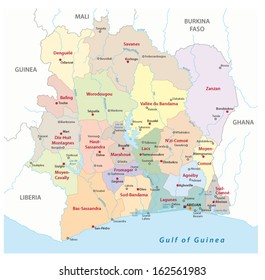 Ivory Coast Map Images Stock Photos Vectors Shutterstock