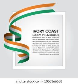 Ivory Coast flag background