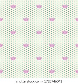 ivory purple tulip teal dot textured seamless print background design