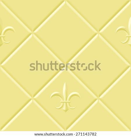 Ivory Relief Pattern Fleurdelis Stock Vector Royalty Free