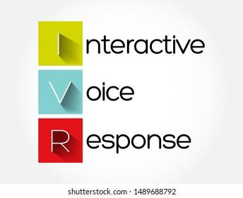 IVR - Interactive Voice Response acronym, technology concept background